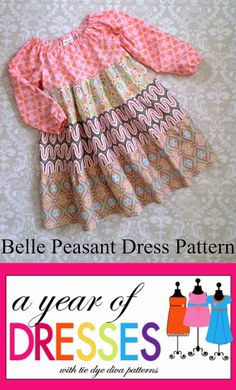 Tie Dye Diva Patterns: A Year of Dresses: Belle Dress for Winter