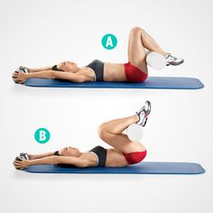 Tone Your Abs on a Mat 5 Moves Better Than Crunches Womens Health Magazine Body Fitness, Fitness Tips, Fitness Motivation, Health Fitness, Women's Health, Workout Fitness, Health Care, Pilates, Yoga Bewegungen