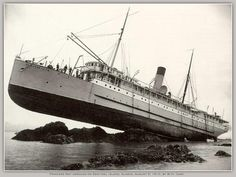 W.H. Case  Princess May aground on Sentinel Island  Alaska, August 5, 1910