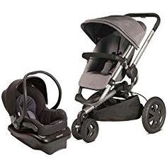 Quinny 2013 Buzz Xtra Gracious Grey Travel System w/ Maxi Cosi Mico Car Seat, Total Black