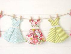 Vintage Paper Dress Bunting ~ 'Rockabilly' | Felt