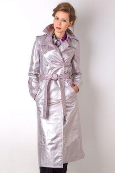 Silver PVC Raincoat Pvc Raincoat, Collar Blouse, Rain Wear, My Black, Black Rubber, Women Wear, Beautiful Women, Lady, Leather