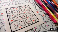 Cute Ghosts - How to Draw Patterns for your Doodles by Garbi KW