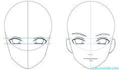 Como dibujar a un Hombre anime (rostro y cuerpo) Pasó a