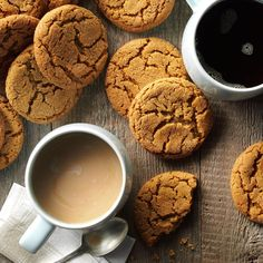 Big Soft Ginger Cookies Recipe -These nicely spiced soft cookies are perfect for folks who like the flavor of ginger but don't care for crunchy gingersnaps. —Barbara Gray, Boise, Idaho