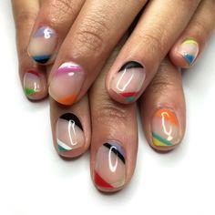 Diagonally coloured lines