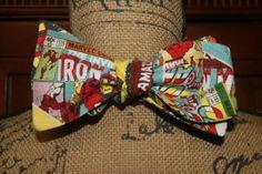 Marvel Self Tie Bow Tie by DesignPlusMe on Etsy, $28.00