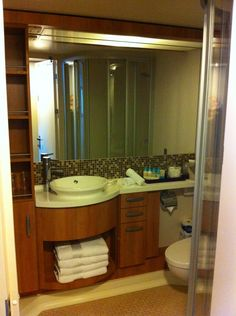 Small Bathroom On A Cruise Ship Celebrity Reflexion Great Storage E For Such