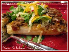 Red Kitchen Recipes: Pulled Pork Tamales with Chili