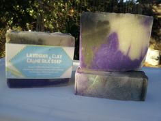 Lavender Clay Handmade goats milk shea butter soap with pure silk