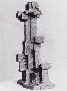 Fritz Wotruba - Figur V, 1965, Bronze