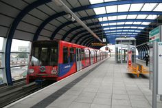 London Population: DLR - Docklands Light Railway Fleet: Bombardier Bombardier 24 Bombardier and 24 Bombardier Croydon Tram, Docklands Light Railway, London Overground, London Docklands, London Transport, Transportation, Environment, Platform, Wedge