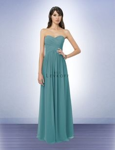 Bridesmaid dresses [Bill Levkoff 778] Teal shown is pretty, but I'd probably go with Holly.