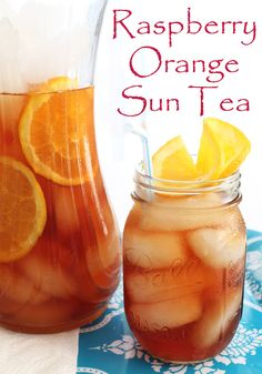 Refreshing Raspberry Orange Sun Tea is an easy drink for summer.