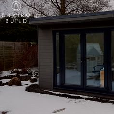 A comfortable garden office for all seasons. Light in the summer and cosy in the winter.   📷: A.Mceown Builders Merchants, Sustainable Building Materials, Floors And More, Composite Decking, Garden Office, Cladding, Sustainability, Fence, Flooring