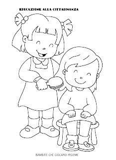 La maestra Linda : Educazione alla cittadinanza Emotions Preschool, Preschool Writing, Preschool Crafts, Speech Language Therapy, Speech And Language, Arabic Handwriting, Kindergarten Portfolio, Action Cards, Good Manners