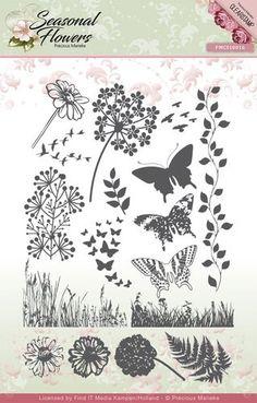 Precious Marieke: Seasonal Flowers; Clear stamp Flowers