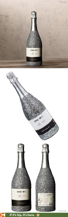 ONEHOPE Glitter Edition Brut Champagne. Half the proceeds are donated to the hungry.