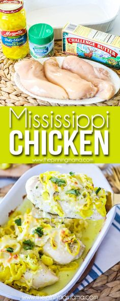 This Mississippi Chicken recipe is EASY + DELICIOUS! There is no better busy weeknight meal, than one that comes together quickly, is packed with flavor and leaves little to clean up. This Mississippi Easy Chicken Recipes, Easy Healthy Recipes, Low Carb Recipes, Easy Meals, Cooking Recipes, Healthy Meals, Healthy Eating, Recipe Chicken, Healthy Choices