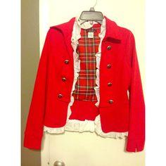 Selling this Red Sailor Jacket // Coat on Poshmark! My username is: eliiizaabeth. #shopmycloset #poshmark #fashion #shopping #style #forsale #Jackets & Blazers