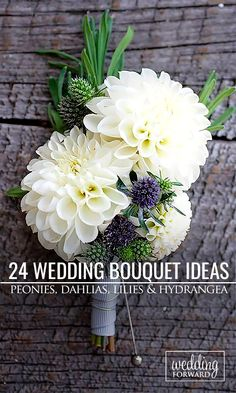 24 Wedding Bouquet Ideas & Inspiration - Peonies, Dahlias, Lilies and Hydrangea ❤ Wedding bouquet is an important part of the bridal look. Make sure it will complement you on your way to aisle and in your wedding photos. See more: http://www.weddingforward.com/wedding-bouquet-ideas-inspiration/ #wedding #bouquets Photo: Lisa Poggi http://www.lisapoggi.com/