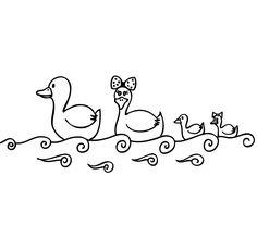 Familia de patos nadando | Tomavinilo