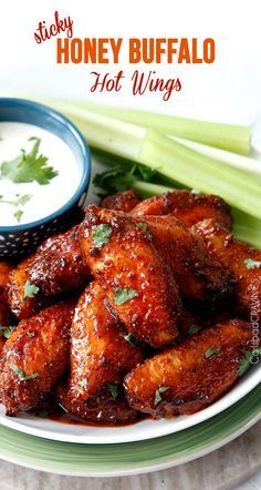 Honey Buffalo Hot Wings and Classic Buffalo Wings (Video!) Honey Buffalo Hot Wings and Classic Buffalo Wings (Video!) Honey Buffalo Hot Wings and Classic Buffalo Wings (Video! Think Food, I Love Food, Good Food, Yummy Food, Buffalo Hot Wings Recipe, Hot Wings Recipe Fried, Honey Buffalo Wing Sauce Recipe, Hot Wings Marinade Recipe, Slow Cooker Hot Wings Recipe