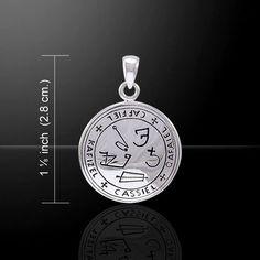 Archangel Cassiel Talisman .925 Sterling SILVER - Sigil of Cassiel Angelic Pendant