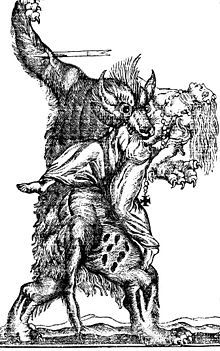 """A werewolf, also known as a lycanthrope (from the Greek λυκάνθρωπος: λύκος, lukos, """"wolf"""", and ἄνθρωπος, anthrōpos, """"man""""), is a mythological or folkloric human with the ability to shapeshift into a wolf or an anthropomorphic wolf-like creature, either purposely or after being placed under a curse and/or lycanthropic affliction via a bite or scratch from a werewolf, or some other means."""