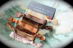 The  Fall Glam  Yoga Elastic Knotted Hair Ties  6pk  by PlumPosh, $9.00
