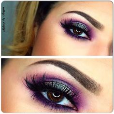 I could do this with mac blue/brown pigment and some of my purples :)