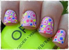 cbc04  naons Fabulous And Eye Catching Neon Nails Art Designs