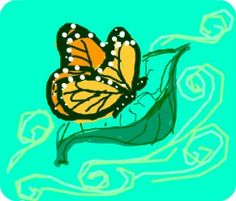 interference - Butterfly happily floating along on a leaf in the wind
