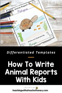 Ready to create animal research projects with your grade one, grade two, and grade three students? Support your students through each stage of the report writing process as they write their animal reports. Informative writing can be a challenge for kids. Make it is easy with these differentiated templates. BUY NOW! Teach W.1.2, W.1.5, W.2.2, W.2.5, W.3.2, and W.3.5 with animal reports. Writing Lesson Plans, Writing Lessons, Writing Process, Writing Resources, Writing Skills, Writing Activities, Writing Ideas, Informational Writing, Informative Writing