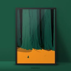 Woods print of the Space Question series.