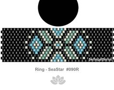 peyote pattern,PDF-Download, #090R, peyote ring beading pattern, beading tutorials, ring pattern