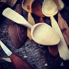Alexander Vincent Yerks - hand carved radial black birch spoon