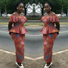 Looking for the Best Ankara skirt and blouse styles? Pictures of The Latest Ankara Skirt and Blouse Styles in […] Latest African Fashion Dresses, African Dresses For Women, African Print Fashion, Africa Fashion, African Attire, Ankara Fashion, African Lace Styles, Ankara Styles, African Print Dress Designs