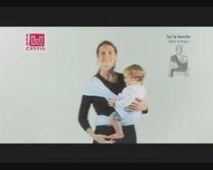 Echarpe porte-bébé sur la hanche : comment nouer via DailyMotion
