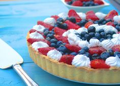 Vegan Red White and Blue Fruit Tart