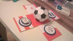 Explosionsbox mit einem Fußball von Janas Ideenreich auf DaWanda.com