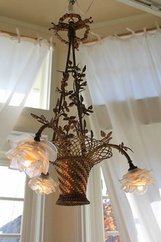 Flower basket chandelier