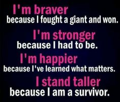 Your strength, your courage and your journey can bring hope and encouragement to others in need. Share your story and help another stand tall. #survivor #breastcancer #strength