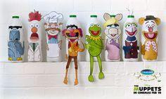Free Muppets Milk Bottle Cut out stickers