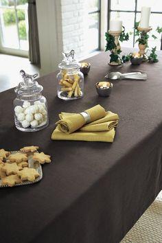Serviettes en lin lavé moutarde (curry 19€ les 4) - Collection maison hiver 2013 Cyrillus