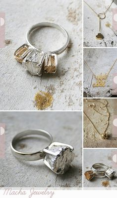 Gorgeous, dramatic, and unique rings. (affordable too) www.machajewelry.com