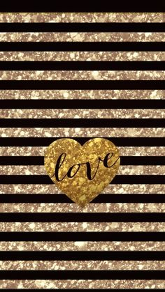 Gold Love, made by me Heart Iphone Wallpaper, Wallpaper Backgrounds, Wallpapers, Red Daisy, All That Glitters, Squash Soup, Butternut Squash, Love, Cheetah