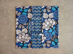 Sac à tarte tout coton fleurs bleues.