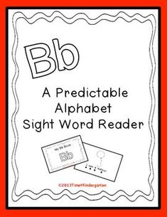 Letter B Book Sight Word Readers Sight Word Readers Sight Word Games Sight