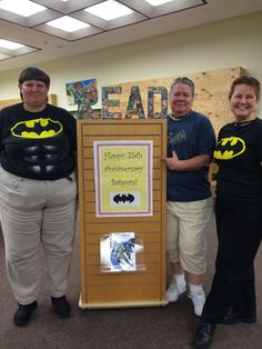 The Beaches Branch of the Jacksonville Public Library celebrates Batman's 75th anniversary. (love this!!)